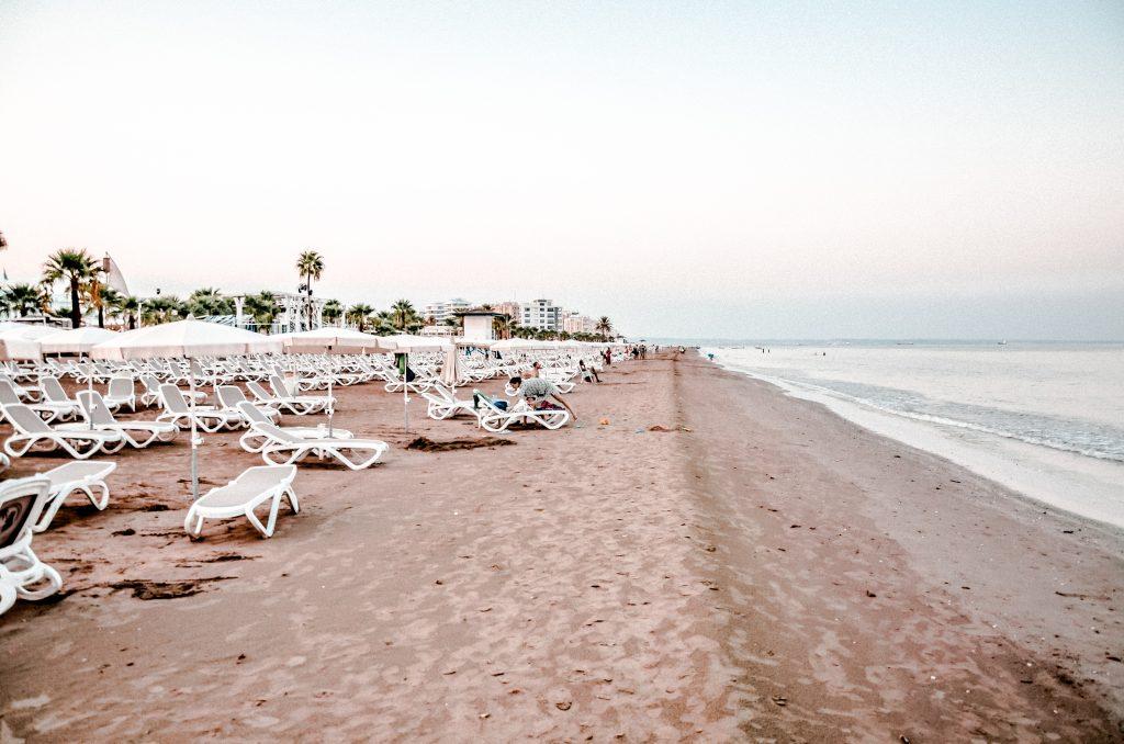 Larnaka Cypr Larnaca Cyprus Plaża Mackenzie Mackenzie Beach