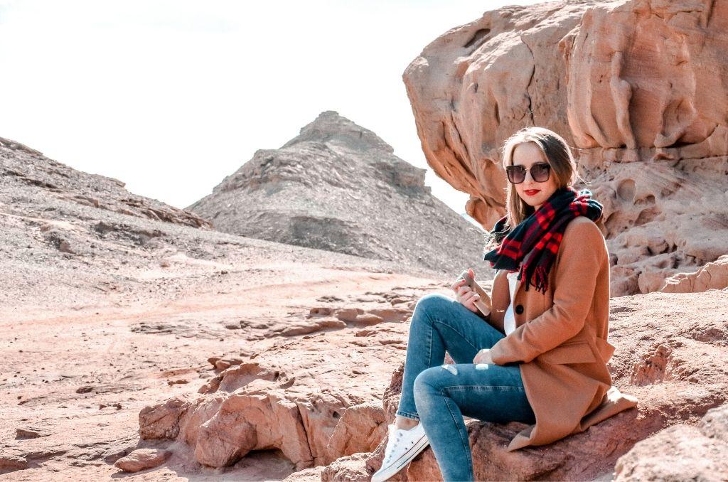 Grzyb skalny w Parku Timna