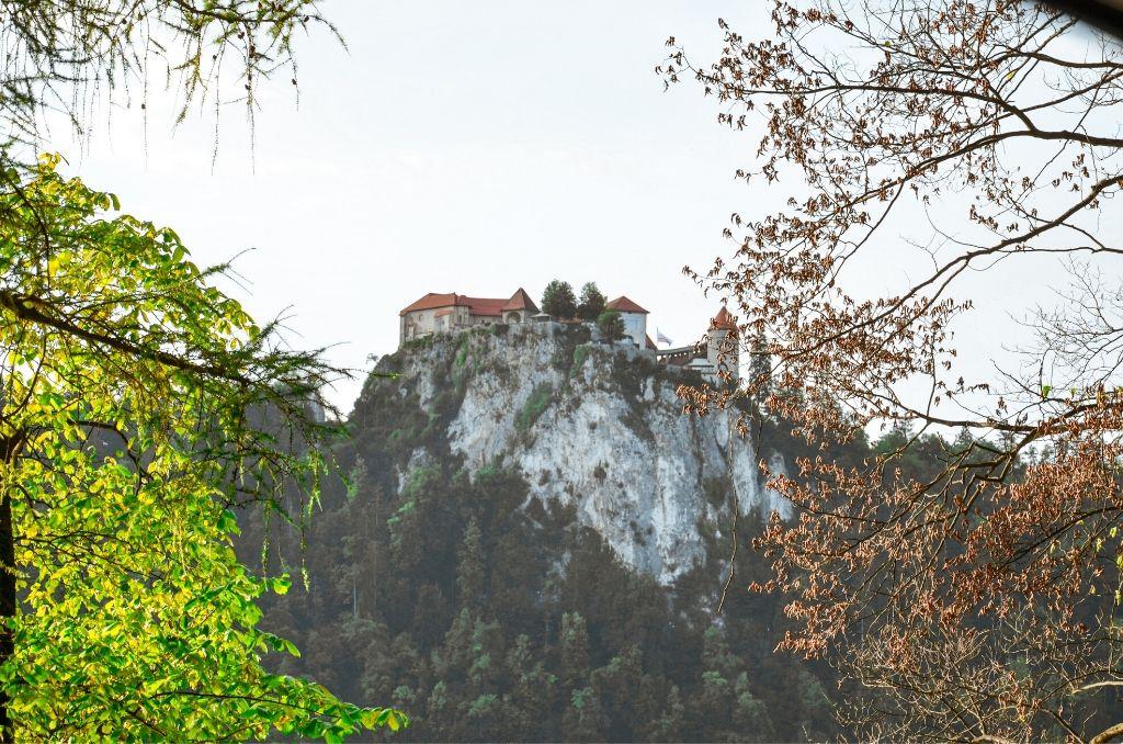 Widok na Zamek w Bledzie