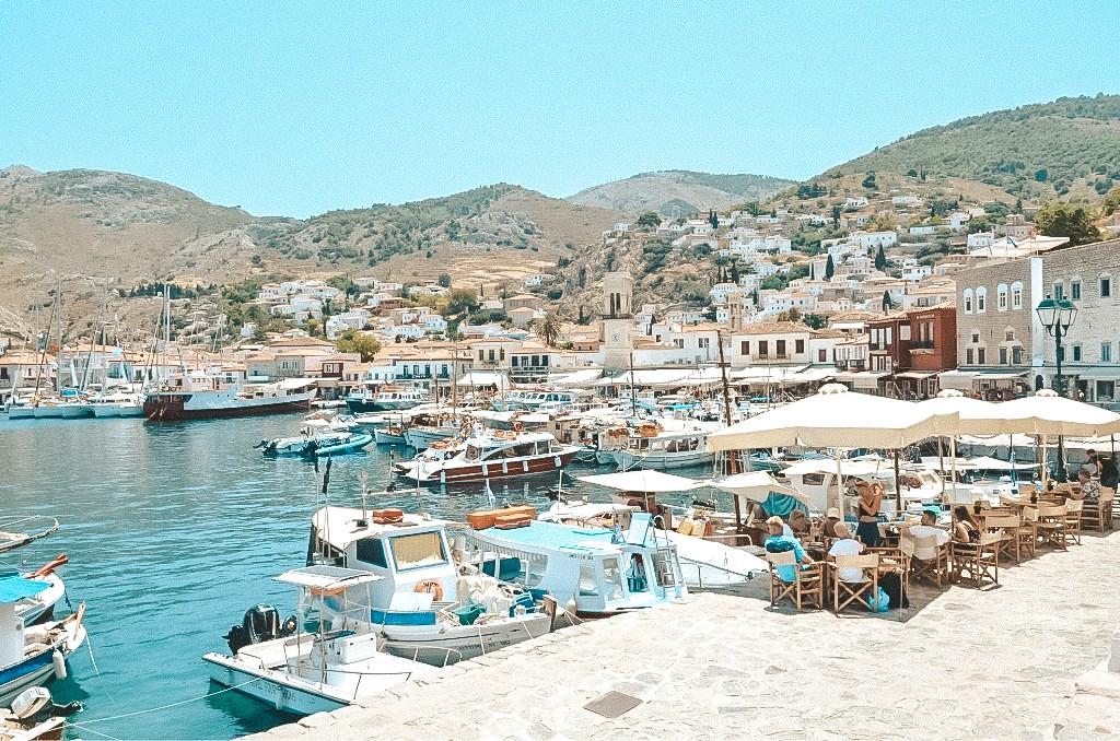 Port na wyspie Hydra