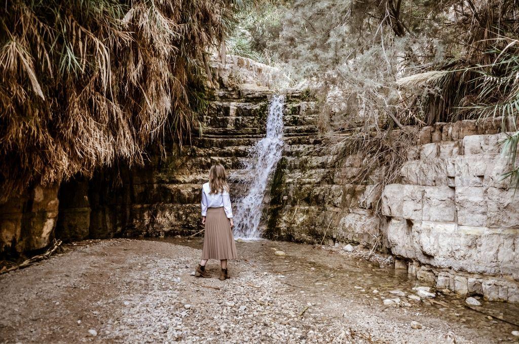 Wodospad w Parku Ein Gedi