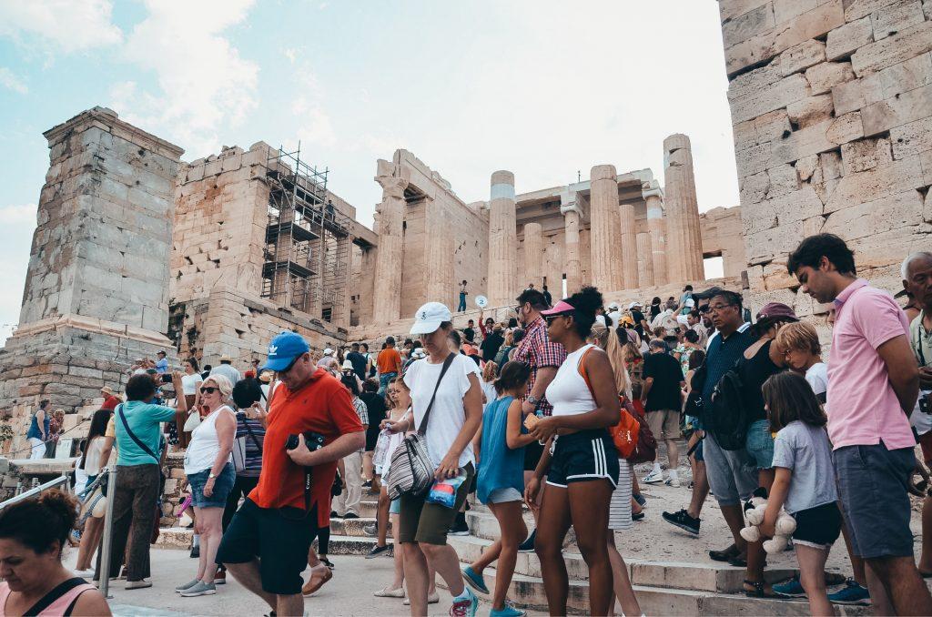 kolejki na Akropol w Atenach