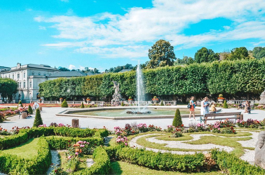 Ogrody Pałacu Mirabell w Salzburgu